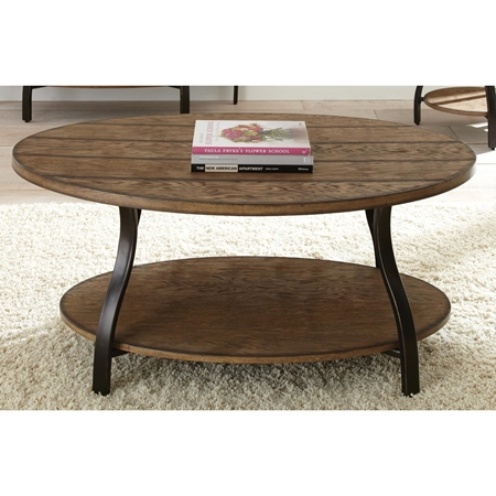 Denise Oval Coffee Table Light Oak Wood Top Metal Base Dcg Stores