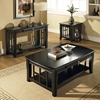Cassidy Black Sofa Table with Curved Legs - SSC-HA250S