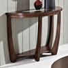 Rafael Demilune Sofa Table - Crackled Glass, Dark Cherry Wood