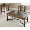 Levante Rustic Sofa Table - Glass, Metal, Wood - SSC-LV100S