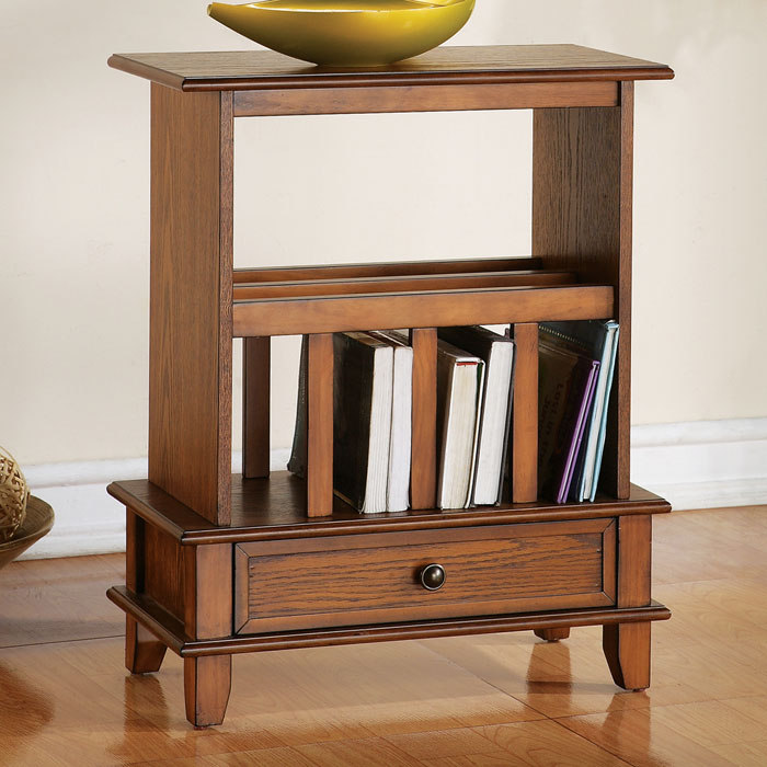 Jordan Chairside End Table With Bookshelf