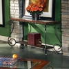 Ellery Glass Top Sofa Table with Metal Scroll Accents - SSC-EL550S