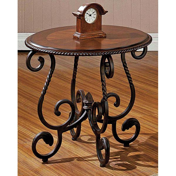 Crowley End Table with Metal Base - SSC-CR150E