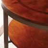 Trisha 3 Piece Round Coffee Table Set - Cherry Finish - SSC-TR2000