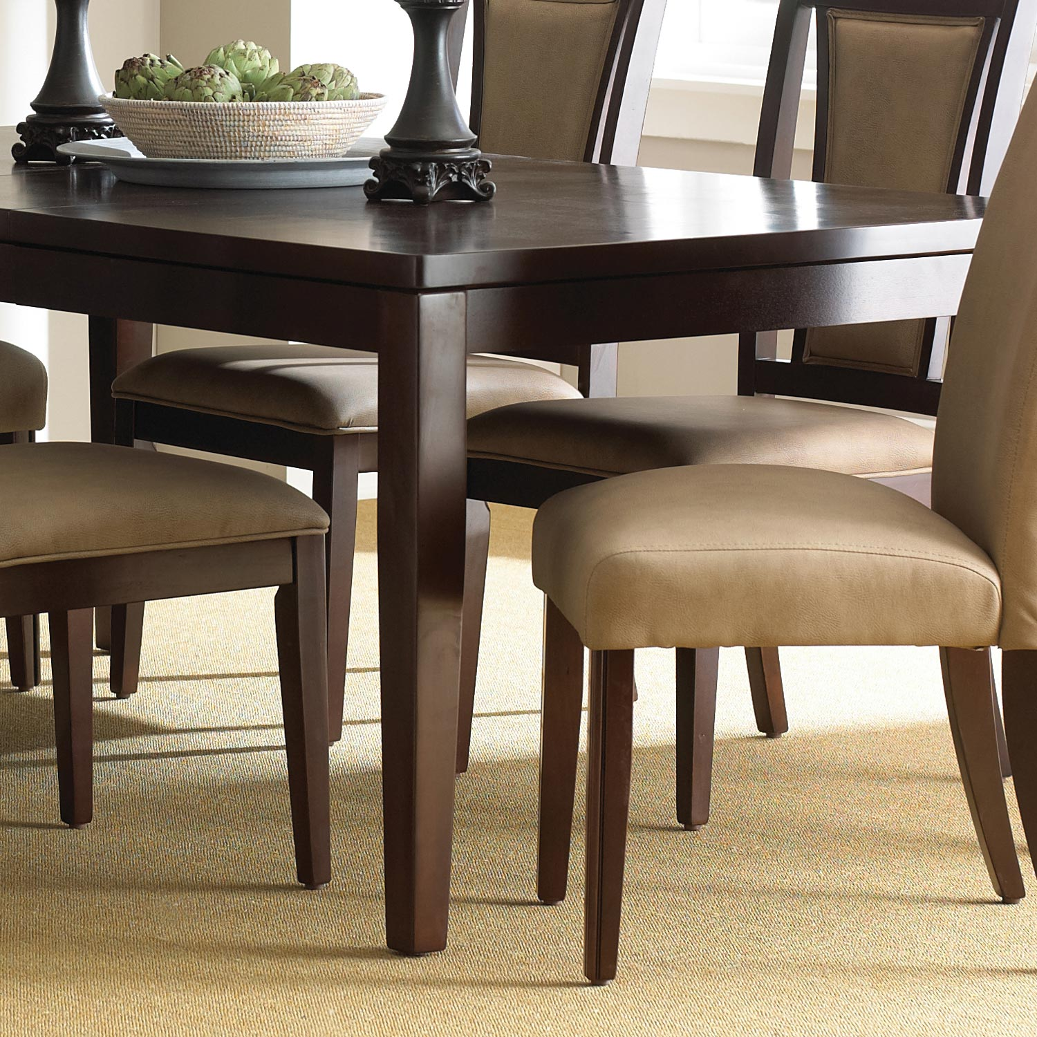 "Wilson Contemporary Dining Table - 18"" Extension Leaf, Espresso - SSC-WL500T"