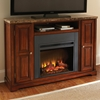Montibello Media Fireplace - Dark Emperador Top, Cherry Wood - SSC-MN560SET