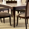 Marseille Rectangular Dining Table - Cream Top, Dark Cherry Base - SSC-MS850WT