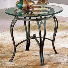 Madrid Glass Top End Table