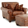 Silverado Chair - Rolled Arms, Pillows, Caramel Brown Leather - SSC-SR910C