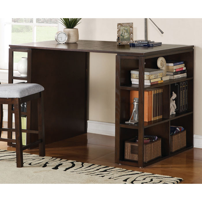 Bradford Dark Oak Counter Height Writing Desk Ssc Bd700dk