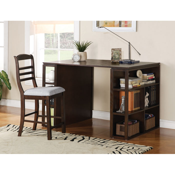 Bradford Dark Oak Counter Height Writing Desk - SSC-BD700DK