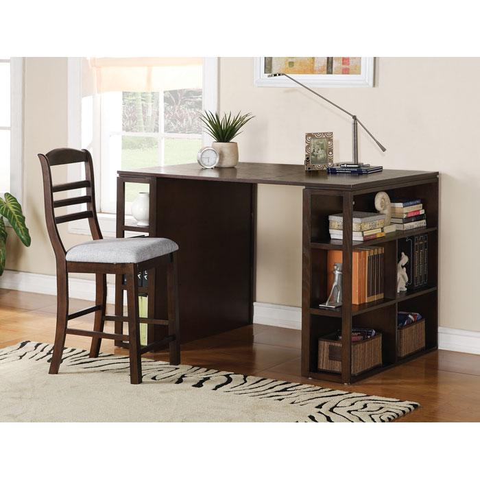 Bradford Dark Oak Counter Height Writing Desk - SSC-BD700DK