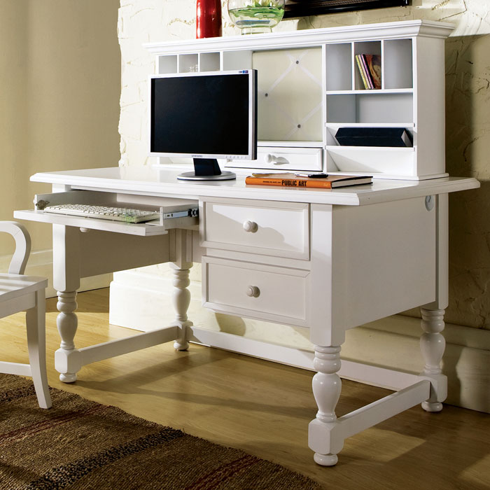 Bella White Desk With Hutch