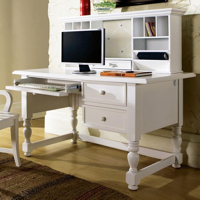 bella white desk with hutch dcg stores. Black Bedroom Furniture Sets. Home Design Ideas