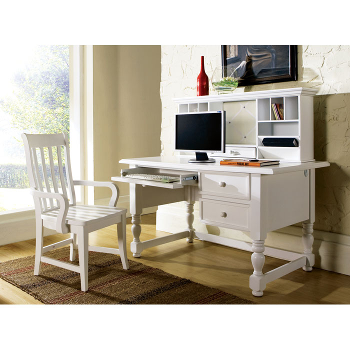 Bella White Desk With Hutch Ssc Bl800dw N Bl800hw