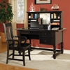 Bella Desk and Hutch in Black Finish - SSC-BL800DB-N-BL800HB-N