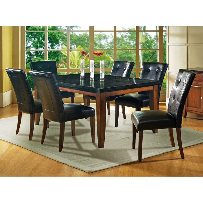 Granite Bello 7 Piece Dining Set in Cherry
