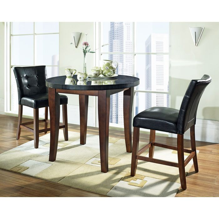 Granite Bello 3 Piece Counter Set with Round Table Top