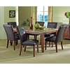 sale retailer 8b0d8 5e853 Montibello 7 Piece Dining Set with Marble Table Top