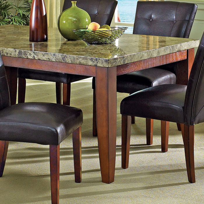 ... Montibello 7 Piece Dining Set With Marble Table Top   SSC MN500 7PC ...