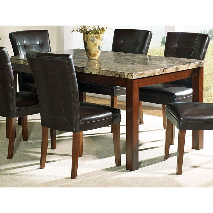 Montibello Marble Dining Table With Cherry Finished Legs   SSC MN450T ...