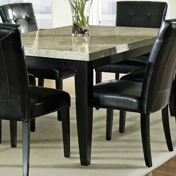 ... Monarch 7 Piece Contemporary Dining Set With Black Chairs    SSC MC500 7PC ...
