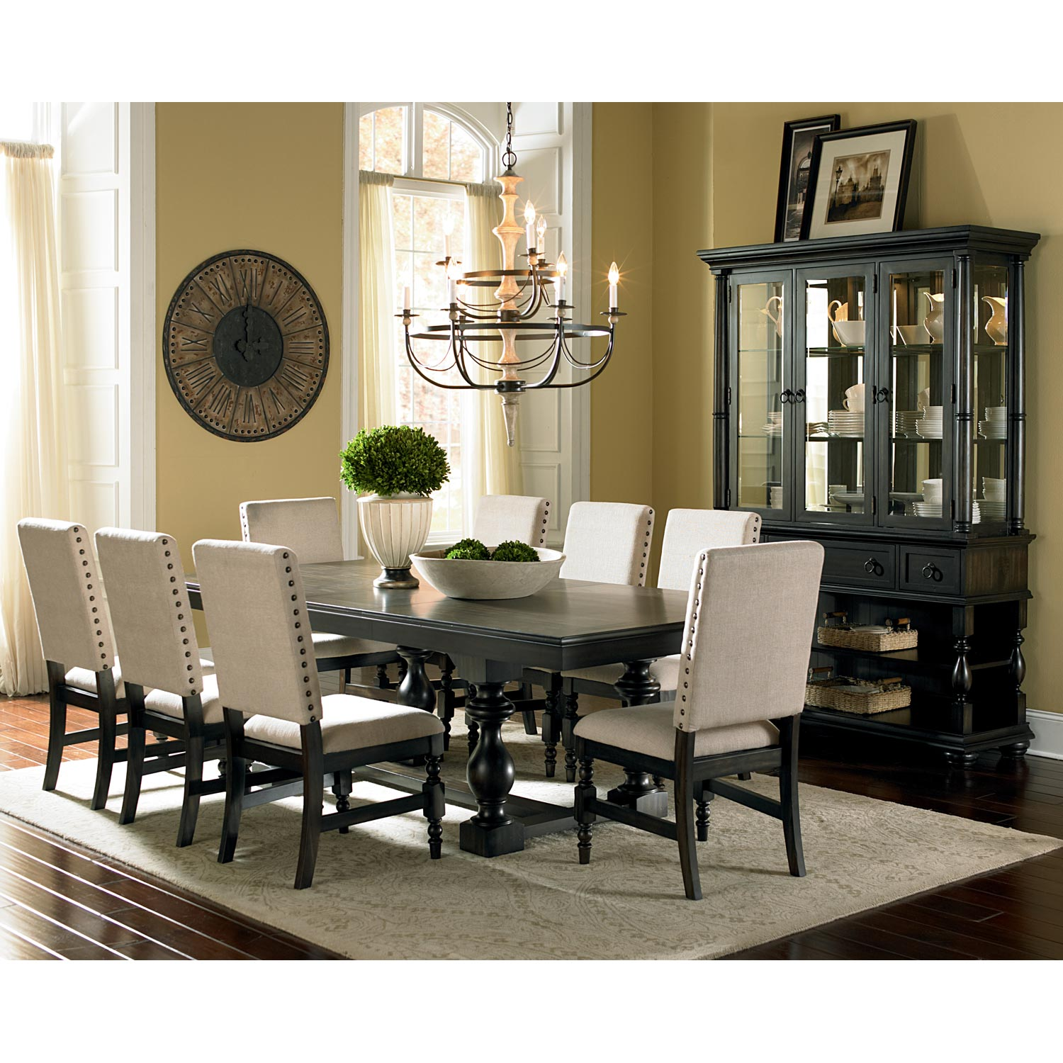 Dining Room Sets With Leaf: Extension Table, Fabric Chairs