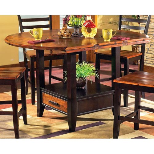 Abaco Drop Leaf Counter Table With Storage Base Dcg Stores