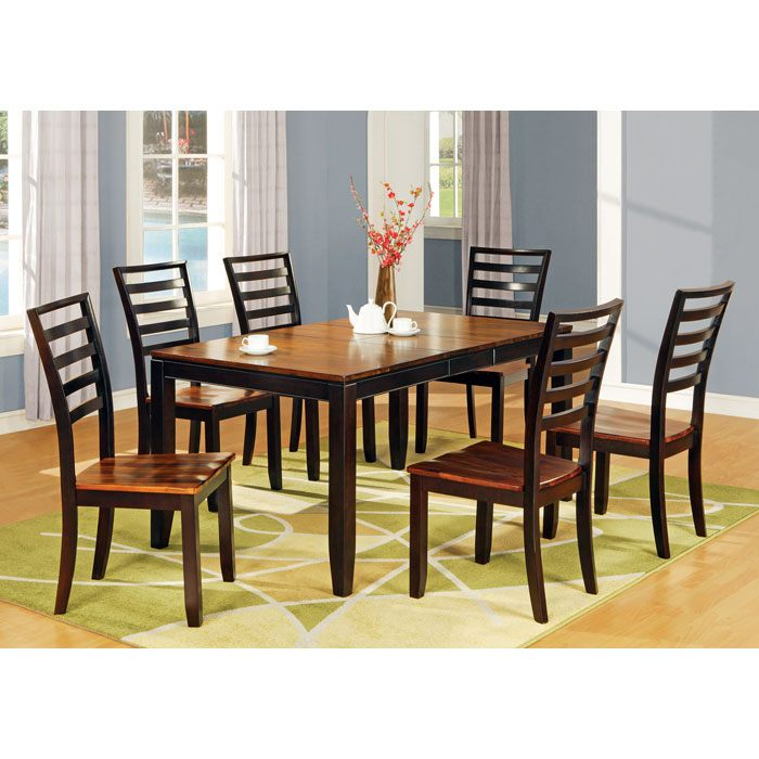 Abaco 7 Piece Two Toned Dining Set   SSC AB300 7PC ...