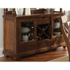 Wyndham Buffet Table - Glass Doors, Drawers, Tobacco Finish - SSC-WD500B