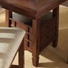 Bolton Counter Table - Extension Leaf, Storage Base, Dark Oak - SSC-BO4848PT-BO4848PB