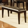 Victoria Chocolate Upholstered Seat Bench - SSC-VC400BN
