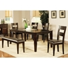 Victoria 6 Piece Wood Dining Set in Mango Finish - SSC-VC400-6PC