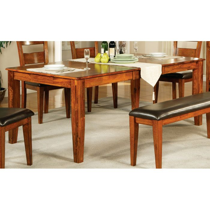 Mango 6 Piece Wood Dining Set In Light Oak Finish Dcg Stores