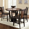 Oakton 5 Piece Two-Toned Counter Dining Set - Round Table - SSC-OK4848-5PC