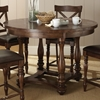 Wyndham Round Counter Dining Set - X-Back Stools, Tobacco - SSC-WD5454-5PC