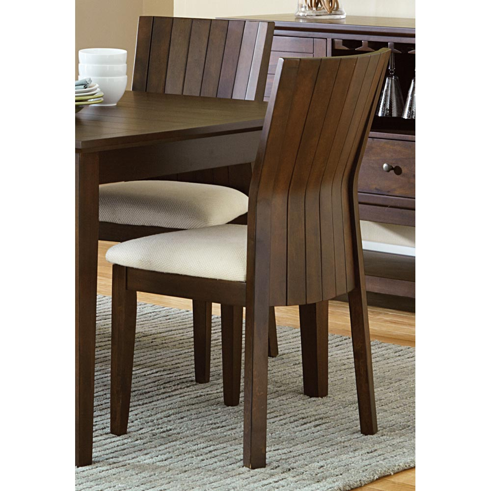 Harlow Dining Chair - Cream Fabric Seat, Tobacco Frame (Set of 2) - SSC-HO500S