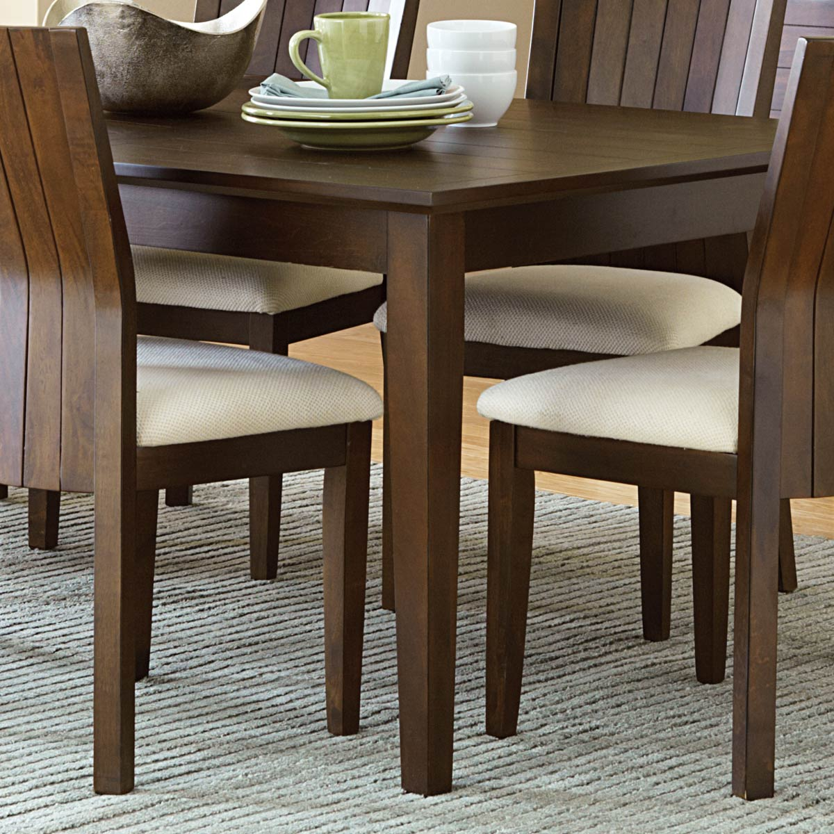 "Harlow Wood Dining Table - 18"" Extension Leaf, Tobacco Finish - SSC-HO500T"