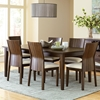 Harlow Dining Set - Extension Table, Cream Fabric, Tobacco Wood - SSC-HO500-7PC