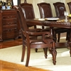Antoinette Cherry Finished Armchair with Carved Accents - SSC-AY600A