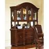 Antoinette Buffet Table with Glass Cabinet Hutch in Cherry Finish - SSC-AY200B-AY200H