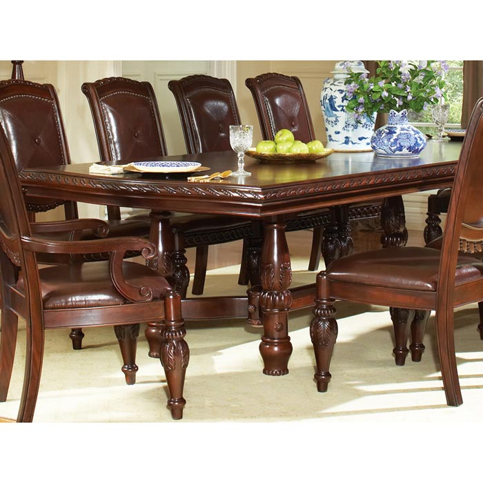Antoinette Extending Dining Table with Hand Carved Legs - SSC-AY200T