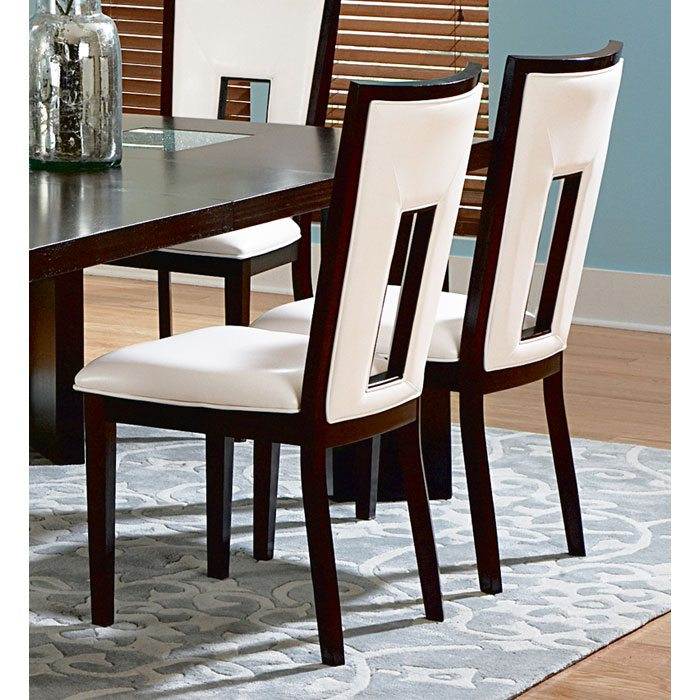 Delano White Seat and Back Side Chair