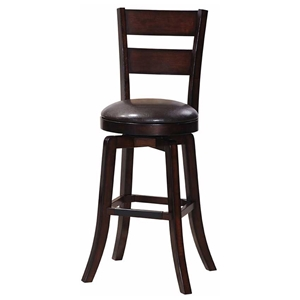 "Gimlet 30"" Ladderback Swivel Bar Stool - Espresso (Set of 2)"