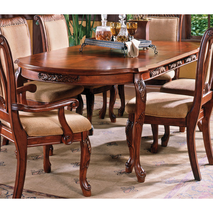 Harmony 7 Piece Dining Set in Cherry Finish   DCG Stores