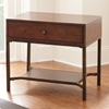Hayden End Table - Light Espresso Wood, Metal Base - SSC-HY300E