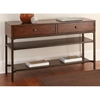 Hayden Sofa Table - Light Espresso Wood, Metal Base - SSC-HY300S