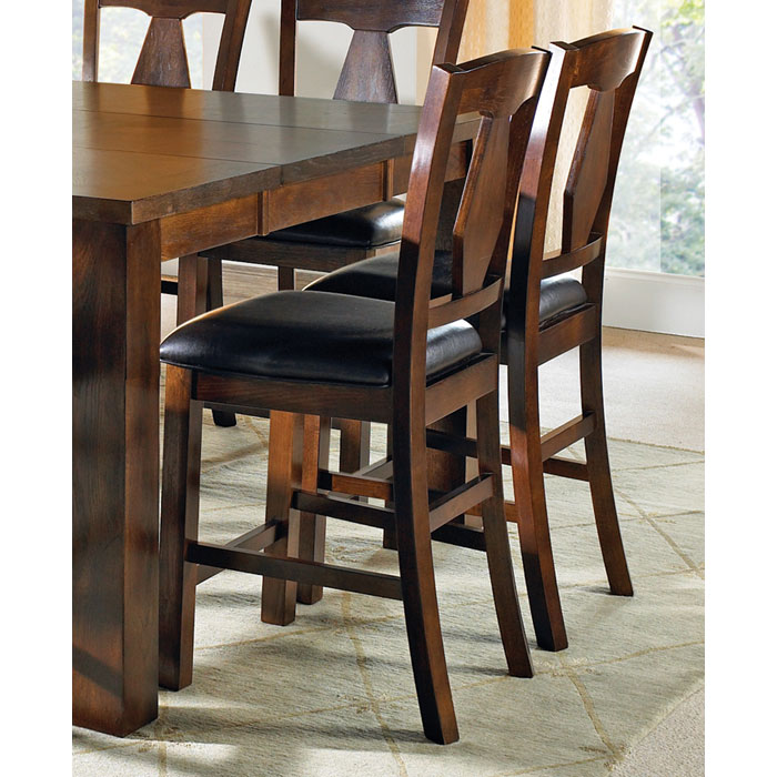 Lakewood Dark Brown Seat Counter Chair Dcg Stores