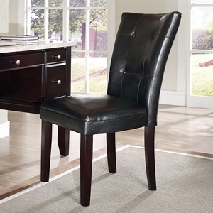 Monarch Upholstered Chair - Espresso Legs, Black