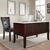 Monarch Home Office Desk - Cream Top, Espresso Wood Base - SSC-MC150D